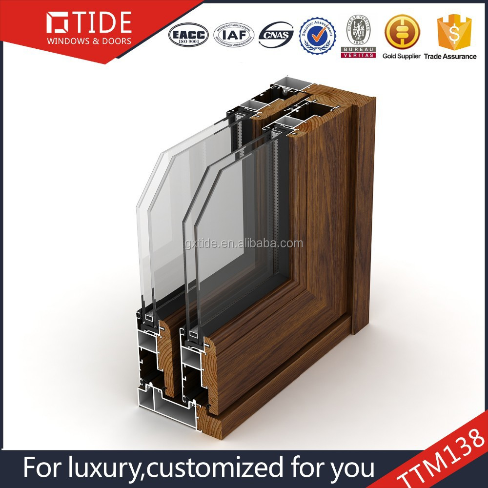 Import china double track aluminum clad wood lift and for Lift and slide doors cost