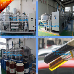 Waste Black Car Engine Oil or Used Ship Oil Recycling/Oil Refinery Plant