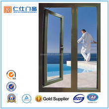 Renshi brand thermal break aluminum lowes french doors exterior used for living room
