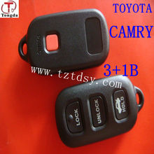 Tongda top key shell for toyota camry remote 3+1 button caver.car key programmer for toyota