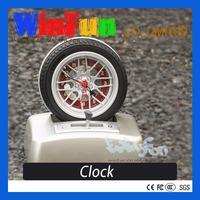 Unique Desk Clock Novelty Tyre Shape Clock
