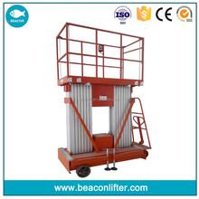 China best price 18m 200kg hydraulic lift machine,manual man lift for sale