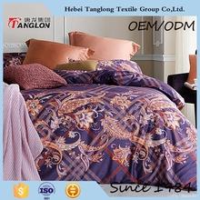 2015 wholesale good quality satin bedding set Chinese manufacturer satin fabric bed sheet set satin bedding set