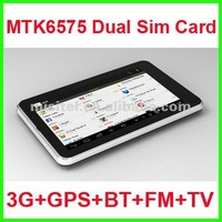 NEWEST 7 inch Tablet PC with Dual Sim Card Slot built-in 3G GPS Bluetooth FM Analog TV HD Screen 1024*600