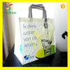 Promotion full color non woven bags with laminated piping