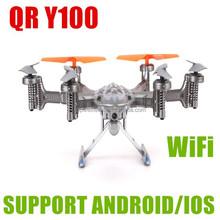 Hot selling RTF version mini Walkera QR Y100 5.8GHZ 6- axis FPV Wifi camera RC plane