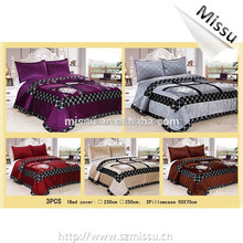 2015 new china Wholesale New Design High Quality Colorful bed cover