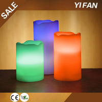 Mulit-colored Flameless Wax Led Candle With Remote Control Function
