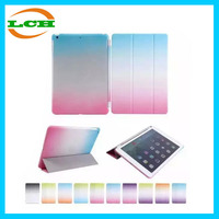 New arrival Rainbow pu + pc 2 in 1 unbreakable case for ipad mini 2 / 3, for ipad 2 / 3 / 4 and for ipad air 2