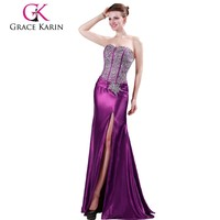 Grace Karin Sexy Mature Ladies Beaded Design Long Evening Dresses 2014 CL4421-3