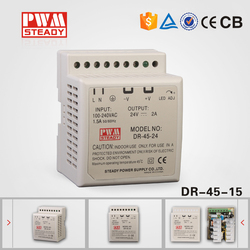 45w dinrail industrial power supply 15v 2.8a din rail switch power supply