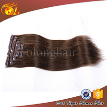 Real 6A Virgin malaysian virgin 26 inch human hair remy clip in hair extensions