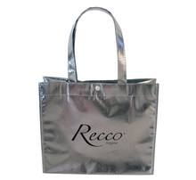 metallic Non-Woven Totes , Trendy and bright non woven totes , large shopping totes