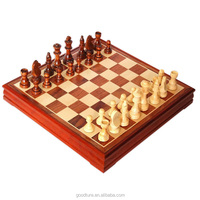 Solid Wood Chess Game Box Set
