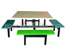 8-Seater Dining Table and Chair, Modern Fiber Glass Dining Table Set, Metal Frame Dining Room Furniture
