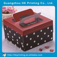 custom pattern polka dots style birthday cake pacagking box