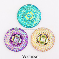 Wholesale 20PCS/Lot Interchangeable Button Jewelry Vocheng 18mm 6 Colors Acrylic Snap Jewelry (Vn-708*20) Free Shipping