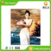 Factory supply girl sexy image diamond draw crystal 3d nude painting