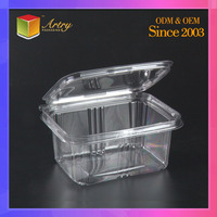 Clear Disposable Plastic fruit/vegetable/food packaging, clamshell blister vegetable plastic container