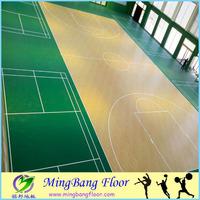 China supplier Moisture-proof antislip indoor PVC basketball sports court flooring