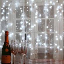 Decorativa estrelas cintilantes led luzes da corda led de natal atacado cortina de luz