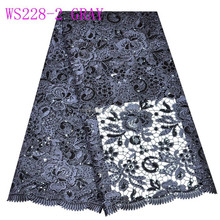 WS228-2 GRAY chemical lace/flower guipure fabric/charming chemical fabric