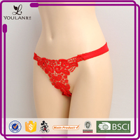 New Arrival Graceful Sexy Girl Thongs Wearing Panty