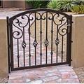 Portas de entrada de ferro forjado elegante