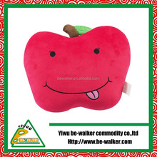 YIWU BEWALEKR Supply Big Red Apple Soft Seat Cushion For Home Relax Cushion And Promotive Gift