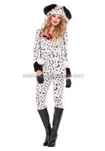 halloween costumes women dalmatian dog adult pajamas costume QAWC-2834