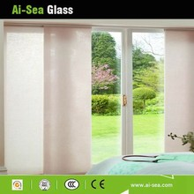 10MM Clear/Coating Toughened Glass Used Interior Glides Glass Doors White Balcony/Veranda Hollow Tempered Glass Sliding Doors