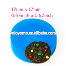 QYL165 Chocolate Cookie Silicone Bakery Mold 17mm - Candy Air Dry Polymer Clay Cabochon Mould, Marshmallow Mold Baby Mould
