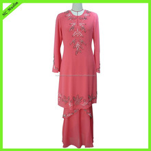 Muslim long sleeve maxi dress latest baju kurung designs 2015