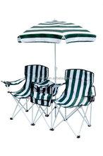 double folding beach chair with umbrella