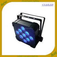 Wholesale wireless rgbw 4in1 par can light 9*3w flat led par