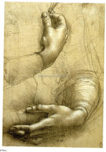 Good quality cotton Da Vinci canvas poster