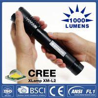 STARLITE Super bright 1000LM Zoom Head beam adjustable high power led flashlight