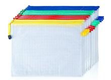 Assorted Clear Zippa School Document Storage Wallet Zip Bags