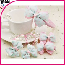 New style baby headband with bowknot hot selling happy girls hair accessory set hairpin baby headband girls headband