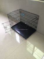 """24"""" Deluxe Dog Puppy Pet Cage Carrier Crate In black"""