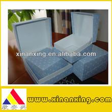 beautiful custom small blue paper box for jewelry