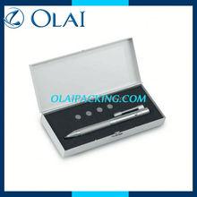 deluxe pen box with velvet holder inner in packing box for business