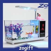 ZOGIFT High quality Mini USB Desktop Aquarium / Fish Tank