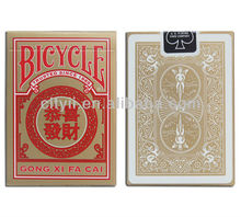 Bicycle Brand Poker Playing Cards - GONG XI FA CAI
