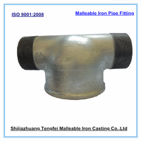 Fire fighting pipe fitting Tees,G alvanized malleable iron pipe fitting