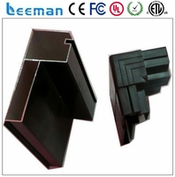 Leeman two sided outdoor led display signs popular aluminium profiles cabinet handle cob power led module rgb