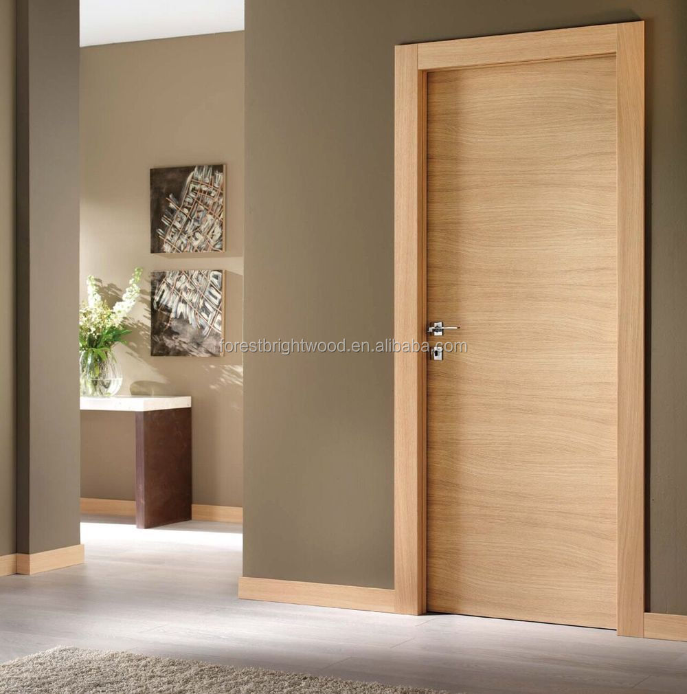 Interieur vlakke fineer houten deuren met onzichtbare scharnieren ...