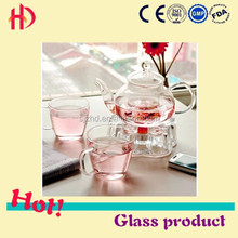 Special Design Crystal-clear Glass Tea Pot with Inner Container