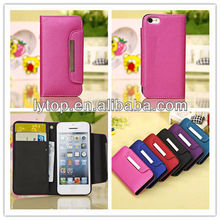 Luxury PU TPU Cover for Apple iPhone 5C, Wallet Flip Leather for iphoen 5C, Cell Phone Accessory Case Cover for iphone 5C