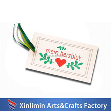 new fashion wholesale popular high quality garment hang tags
